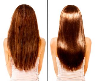 Выпрямление волос в салоне